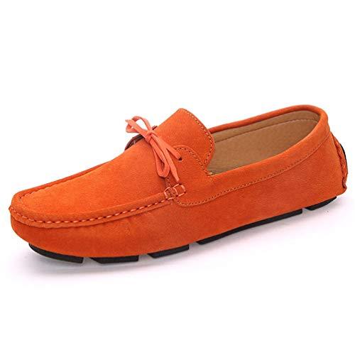 Männer Loafers Weiche lässige Wildleder-Lederschuhe Navy Blue Slip auf Schuhen -