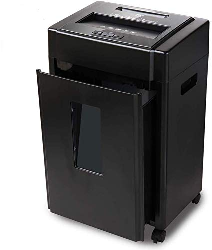 SILOLA Aktenvernichter, 8-Blatt-Cross-Cut-Aktenvernichter, P-5-Hochsicherheitsstufe, 20-Liter-Behälter mit transparentem Fenster, Vernichtet CD/DVD/Kreditkarten/Heftklammern/Büroklammern, Hochleistu