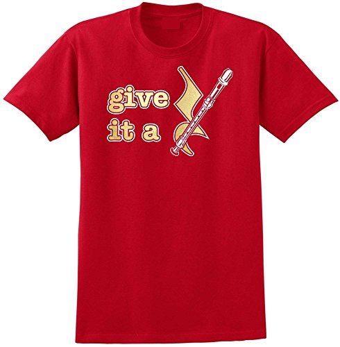 Recorder Give It A Rest - Red Rot T Shirt Größe 87cm 36in Small MusicaliTee