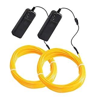 Mixtooltoys-2-Stck-Flexibel-15-ft-5-m-Neon-Beleuchtung-EL-Draht-Lichtschlauch-Leuchtschnur-El-Kabel-Wire-khles-Licht-mit-3-Modis-fr-Partybeleuchtung-Weihnachtsbeleuchtung-Blau