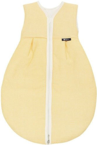 Alvi Mäxchen Baby Schlafsack Außensack light, Größe:90;Design:Karo gelb 372-4