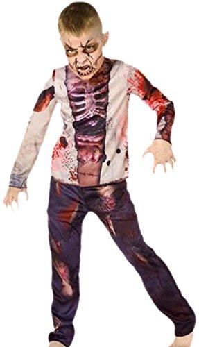 erdbeerloft - Jungen Zombie Junge Kostüm, Halloween, 134, Mehrfarbig