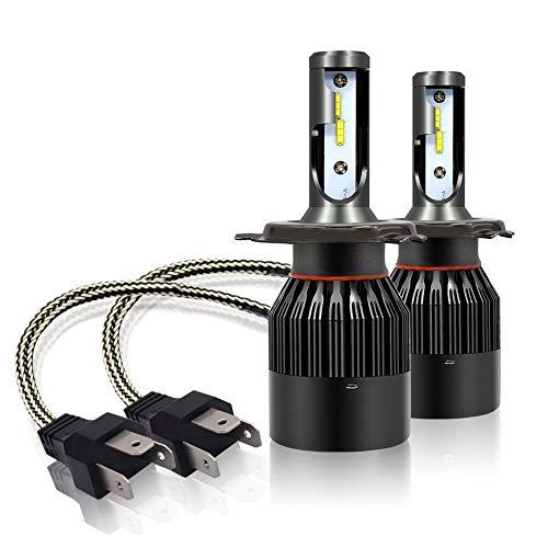 lampade LED H4 72W,Abbaglianti E Anabbaglianti H4 9003 HB2 LED auto Fari,Kit lampadine h4 led 12V-24V 5500K-6000K