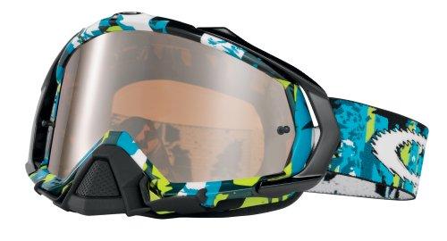 Oakley Gafas Máscara Mayhem Rocked Out Azul Verde Lente Iridio Negro