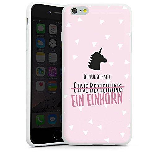 Apple iPhone X Silikon Hülle Case Schutzhülle Statement Einhorn Spruch Silikon Case weiß