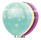 bb10 Schmuck 18 Geburtstag Deko Luftballon Ballons mit Zahl 18 Farbmix Metallic Dekoration zum 18.Geburtstag Party oder andere Anlässe 5 Stück