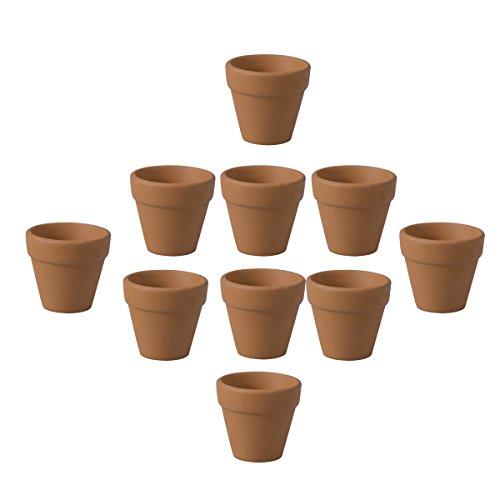 Ounona 10pz mini argilla vasi in terracotta argilla ceramica ceramica vasi di fiori vaso cactus succulente nursery pots- ideale per piante, artigianato, wedding favor, 4.5x 4cm
