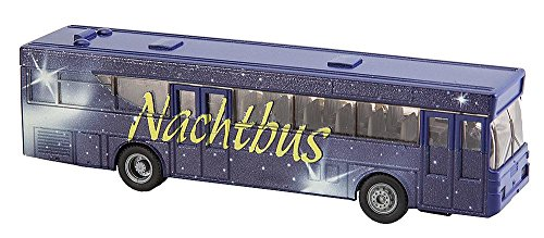 FALLER FA 161499 - Car System Start-Set Nachtbus, MB 0 405, Zubehör für die Modelleisenbahn, Modellbau