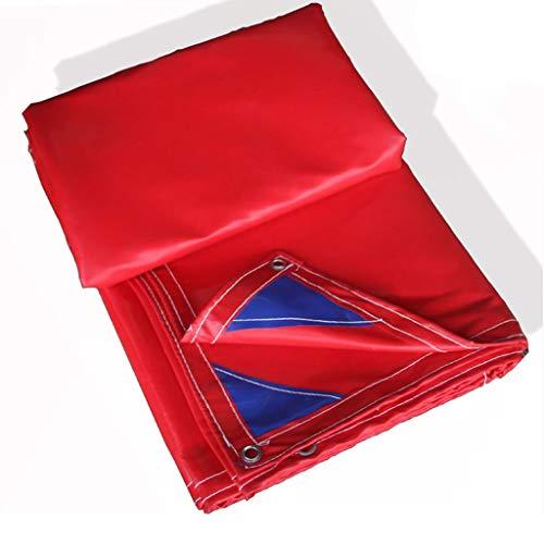 Super Heavy Duty Vinyl Plane Abdeckung Für LKW, 21 Unzen Plane Ösen Und Verstärkte Kanten, Langlebig, Schimmel & UV-beständig, Ideal Für Den Gewerblichen Einsatz, Rot (Size : 4mX5m/13'x16') -