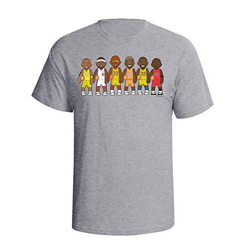 VIPwees Basketball Legends Mens Herren Caricature Sport T-shirt -