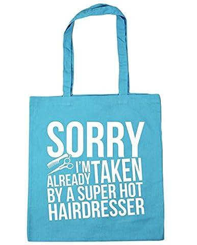 HippoWarehouse Sorry I'm Already Taken By A Super Hot Hairdresser Tote Shopping Gym Beach Bag 42cm x38cm, 10 litres