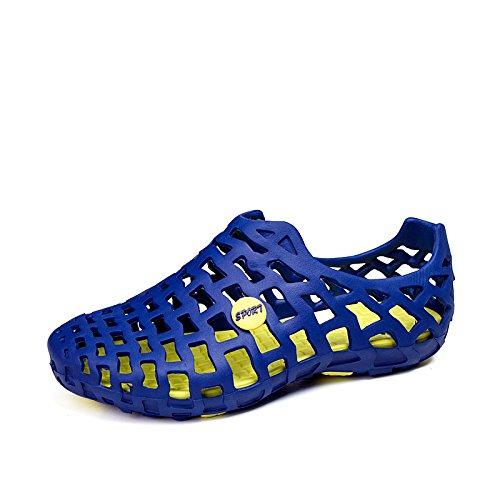 Xing Lin Chaussures DÉté Hommes Des Hommes DÉté Pour Hommes Chaussures Pantoufles Marée Cool Chaussures De Plage Sandales Chaussures Sandales Automne Trou Chaussures Amoureux 555 Sapphire