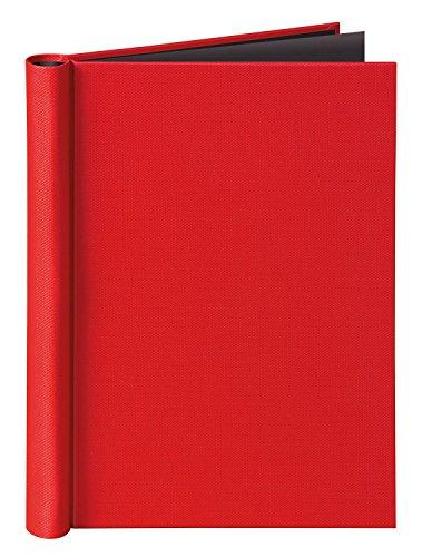 Veloflex 4944321 Klemmbinder A4 Velocolor mit Leinenstruktur, Klemm-Mappe, passend für Prospekthüllen, rot (Süße Rote Binder)