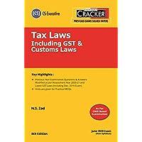 Taxmann's CRACKER-Tax Laws Including GST & Customs Laws (Module 1-Paper 4) (CS-Executive)(June 2020 Exam-New Syllabus)(8th Edition 2020)