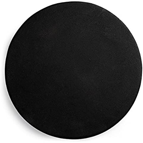 Heima Plate, Black, H: 2 x Ø: 23 cm