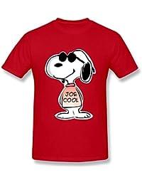 limei para hombre Snoopy Joe Cool Custom Causal camiseta de algodón