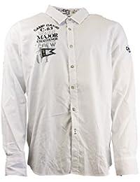 Camp David Cape Horn II, CD óptica camisa CCB 1408 5114 OW para hombre blanco camisa