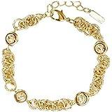 Bracelet for women in gold-plated rings