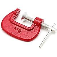 2,5 cm 5,1 cm 7,6 cm C-Clamp G-Clamp aus strapazierfähigem Metall für Zimmermannsarbeiter mit abnehmbaren weichen Backen Pads, rot