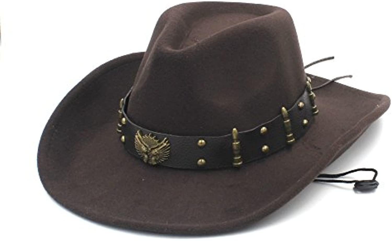 USPANDI Cappello Occidentale da Cowboy Occidentale Cappello con Cappellino  Roll up con Papillon Sombrero e Cappellino da Donna Cappelli... Parent  4822a2 41cbbea1886f