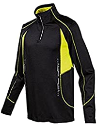 Crivit Sports Men s Long-Sleeved Functional Shirt Cycling Jersey Running Shirt  Black Yellow Size c8ae86a11