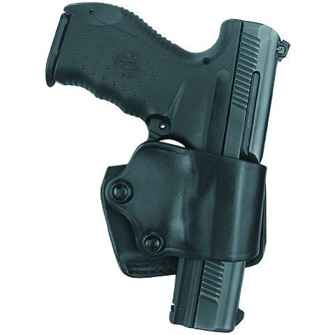 Gould & Goodrich B801de G20Gold Line Yaqui Slide Holster (Negro) Ideal para Glock 20, 21, 29, 30, 37, 39, HK USP y USP Compact (todos) P2000, P3000; ShoXx. KP94, R835-P94, kp94d, KP944, kp944d, kp94dao, kp944dao, kp97d, kp97dao, kp89, kp89d, P85P89, p89d, kp89dao, kp90, kp90d, P90, p90d, kp91d, p91d, kp91dao, p91dao; Sig 220W/carril, 226, 226W/rieles, 226W/Rail DAK, 228, 229, 229W/Rail 229W/Rail DAK, 245, 250Compact 9mm, 40, .357; White Decal SW M & P 9mm, .40, 357, White Decal Oregano
