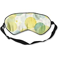 Comfortable Sleep Eyes Masks Watercolor Green Yellow Circles Printed Sleeping Mask For Travelling, Night Noon... preisvergleich bei billige-tabletten.eu