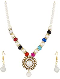 The Luxor Multicolor Crystal Studded Fancy Necklace Set For Women (NK-1947)