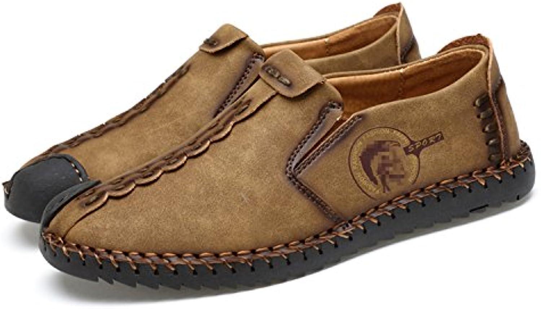 Esthesis Herren Sommer Schuhe Slip auf Loafers Mokassins Echtes Leder Breathable Driving Schuhe