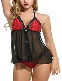 c1989dbe48 StylEra Sexy Honeymoon Lingerie for Women Ladies and Girls Nightwear Net  Babydoll Dress Sleepwear (