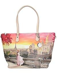 85496f7cea YNOT donna borsa shopping con tracolla L-397 PINK R