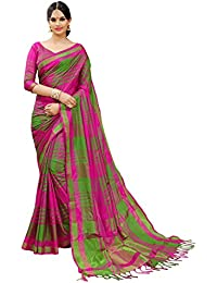 Art Décor Multicolor Cotton Silk Festive wear Saree with Blouse