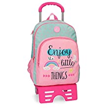 Roll Road Little Things Double compartment School Backpack 44cm with trolley