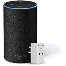 Amazon Echo (Black) Bundle with Oakter 16A smart plug