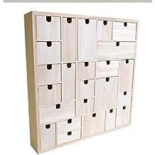 Artemio 14002001 Calendrier de l'Avent à Décorer Géométrique Bois 40 x 6,5 x 40 cm