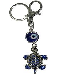 Gratitude Tortoise Metallic Keychain / Key Chain / Keyring / Key Ring