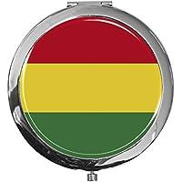"""metALUm - Extragroße Pillendose in runder Form""""Flagge Bolivien"""" preisvergleich bei billige-tabletten.eu"""