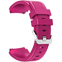 Gear S3 Frontier / Classic Watch Band, Mothca Soft Silicone Replacement Sport Strap Heart Rate Fitness Smart Watch Wristbands for Samsung Gear S3 Frontier / Classic, NOT FIT Gear S2 ( Rose Red )