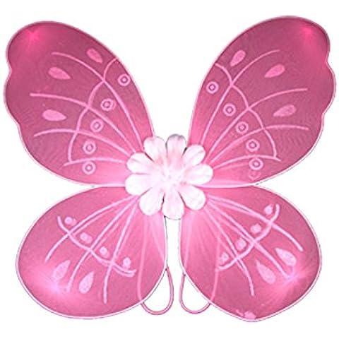Lote de Sourcingmap ' de la muchacha mas traje de la venda es juego de ala de la mariposa varita mágica para disfraz de