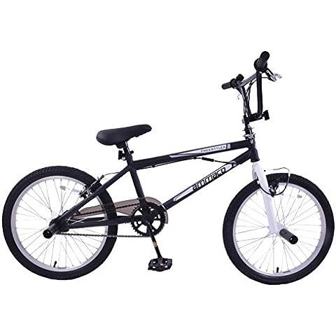 "ammaco freestyler Cheapest per bambini BMX con pedane e Gyro 20""Ruota Nero"