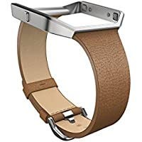 Fitbit Blaze Slim Leather Accessory Band, camel, Large