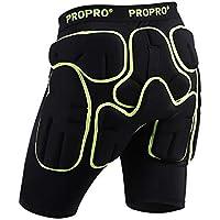 LHKAVE Protecciones Acolchadas para La Cadera Pantalón Corto Equipo De Protección para Motocicletas De Motocross Y Ciclismo En Moto De Esquí De Fondo SKI Skate,S