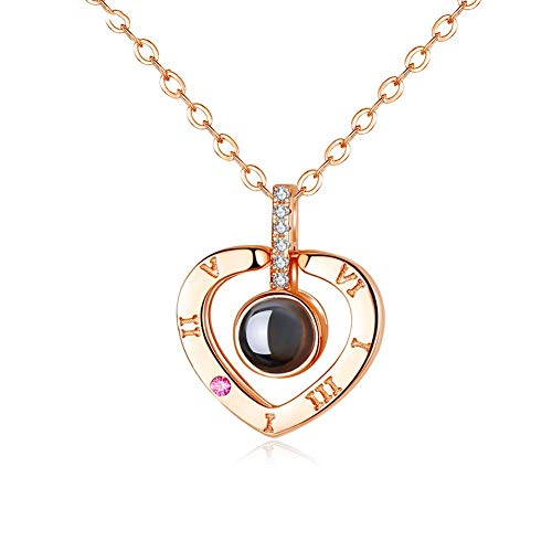 Wonvin Collection S925 Sterling Silver Necklace Memory Languages Projection 100 Languages to Express
