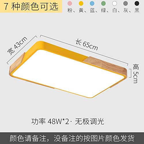 Led ultradünne Arbeitszimmer Lampe Schmiedeeisen Persönlichkeit quadratische Lampe 65 * 43cm stufenlose Verdunkelung grau -