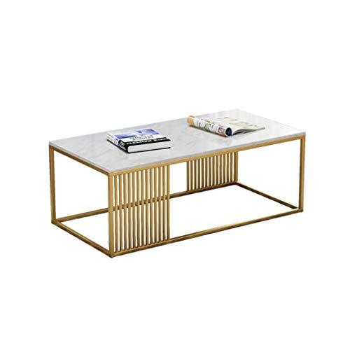 T-Day Beistelltische Nachttisch Tische Couchtisch Rechteckiger Tee-Couchtisch der Schmiedeeisen-Marmorplatte, Wartebereich-Sofa Table Living Room Furniture Dining Table (Color : A) -