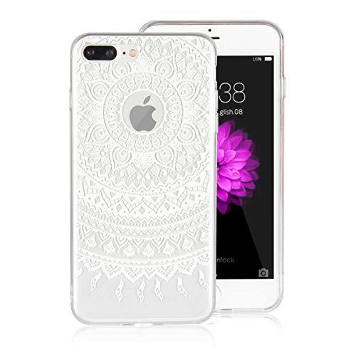 DENDICO Funda iPhone 7 Plus Carcasa iPhone 8 Plus Silicona Ultra Delgado de Estuche Funda Transparente Suave TPU para Apple iPhone 7 Plus / 8 Plus -Blanco
