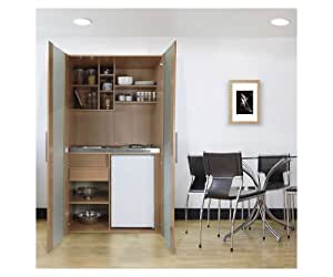 respekta skbmg single b ro pantry k che minik che schrankk che buche mit k hlschrank kochplatte. Black Bedroom Furniture Sets. Home Design Ideas