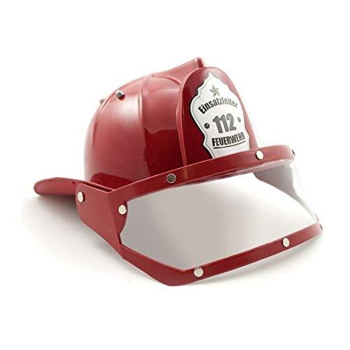 ischer Kinder Feuerwehr Helm mit Visier (deutsch), rot (1 Stück) ()