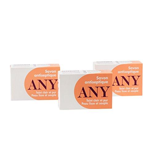Lot de 3 Savons ANY - Savon antiseptique - Pain de 100 gr