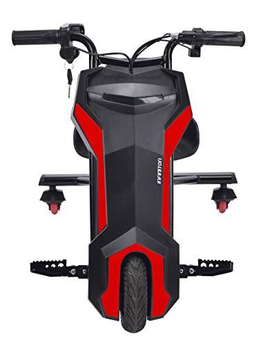 CRAZY BIKE TRICICLO ELÉCTRICO, Velocidad máx: 22km/h y altavoz bluetooth. (Negro)